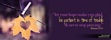 Let Your Hope Make You Glad Facebook Cover Twitter Cover Free