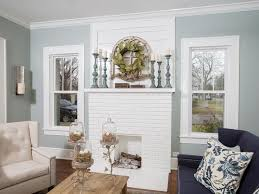a 1937 craftsman home gets a makeover fixer upper style a painted white brick fireplace