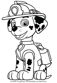 Paw Patrol Coloring Pages Printable Chase Paw Patrol Coloring Page