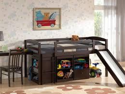 loft with slide. large size of bedroom furniture:awesome boys beds bed with desk under dark wooden loft slide