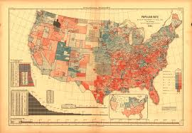 Us Presidential Election Chart Vintage Election Maps Show History Of Voting