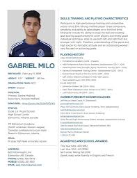 Resume Play Inspiration Soccer Resume For College Kenicandlecomfortzone