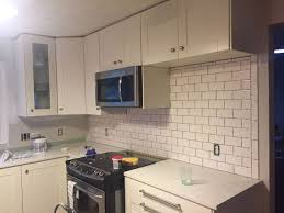 kitchen backsplash subway tile. Picturesque Subway Tile Backsplash Step By Tutorial Part One Hometalk Kitchen Backsplashes O