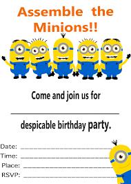 Minion Birthday Party Minion Birthday Party Invitations Theruntimecom