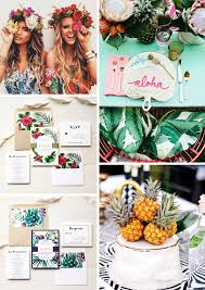 Collage Wedding Invitations Tropical Floral Wedding Invitations Beacon Lane