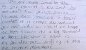 fourth grader calmly explains gay marriage get over it fourth grader gay marriage essay