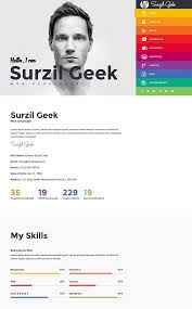 Interactive Resume Template Best HTML Resume Templates For Awesome Personal Sites 7