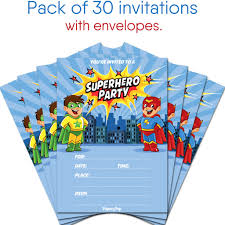 superheroes birthday party invitations 30 superhero birthday invitations with envelopes kids birthday
