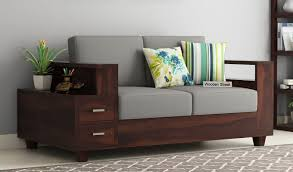 solace 2 seater wooden sofa