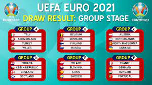 UEFA EURO 2021 DRAW RESULT - GROUP STAGE - YouTube