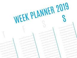 Weekly Planner Pt Template 2019 Calendar Excel Editable Planners
