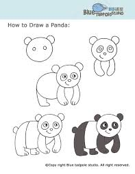 Small Picture Easy Steps To Draw A Panda Coloring Coloring Pages