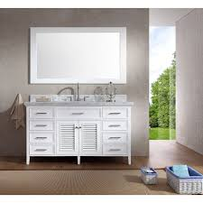 white single bathroom vanity. Ariel Kensington 61-inch Single Sink White Vanity Set (61 Bathroom