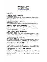 Bartender Resume Responsibilities Or Brief Description Of