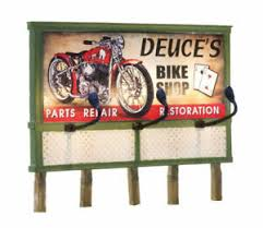 Details About Woodland Scenics Lighted Billboard Just Plug R Deuces Parts And Repair
