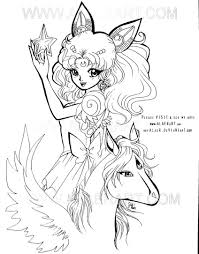 Pegasus Unicorn Coloring Pages Wumingme