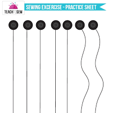 sewing machine practice sheets first sewing exercise teach to sewteach to sew