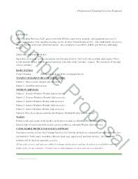 Sample Proposal Letter For Cleaning Services Request For Quotation
