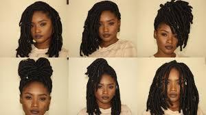 6 Short Faux Locs Hairstyles Kemiixo Youtube