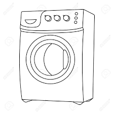 laundry clipart black and white. Delighful White Dryer Clipart Washing Machine Black And White Library Intended Laundry Clipart Black And White