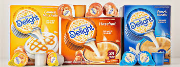 Different types of coffee creamer. International Delight Non Dairy Coffee Creamer And Pre Mixed Iced Coffee