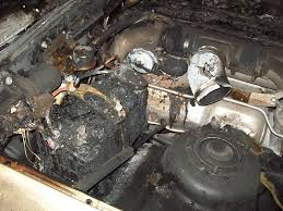 diy push button ignition club lexus forums solenoid wire in to the car please use a fuse at the battery or risk your car looking like this same mod no fuse somehow the wire grounded out