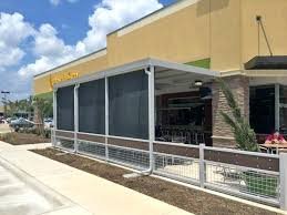 outdoor patio enclosures restaurant patio sun shades outside custom commercial product southern patio enclosures residential outdoor