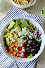 mexicali chopped salad with creamy cilantro lime dressing simply scratch