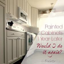 Professional Painting Kitchen Cabinets Enchanting Painted Kitchen Cabinets One Year Later The Palette Muse