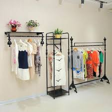 wall clothing racks pipe clothing rack wall mounted