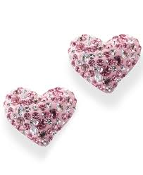 lyst swarovski pink and white crystal hearts in