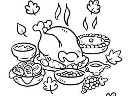 Small Picture coloring pages for thanksgiving feast thanksgiving dinner coloring