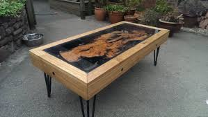 tree root oak and glass coffee table reborn from disaster dsnerv you