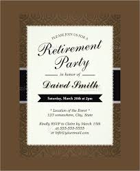 Free Retirement Flyer Templates Free Retirement Party Invitation Templates For Word Template