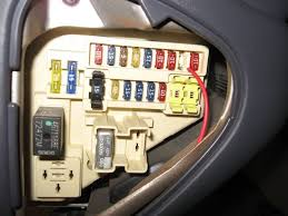 diy adding a overhead console w temperature and compass durango which is now your new power wire run it to the fuse box and place it in fuse number 11 a 10a fuse this is the consoles power fuse block location
