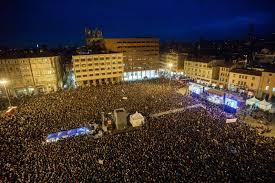 40 mila sardine in piazza a Bologna. Santori: