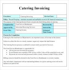 Catering Order Form Template Inspirational Free Invoice Template Pdf ...