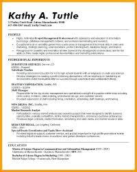 Examples Of A Resume Profile Ellseefatih Com