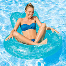 pool lounge chair inflatable swimming float lounger intex beach water mattress