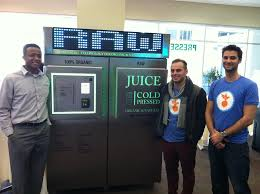 Cold Pressed Juice Vending Machine Inspiration Juice Cold Pressed Founders Launch Freshsqueezed Raw Juice Vending