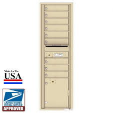 9 tenant doors with 1 parcel locker and