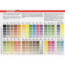 Mixol Tint Color Chart Mixol Colour Chart Catalogues Colour Charts Tools