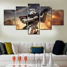 wall art sets for living room fresh 5 pieces set star wars home decor canvas print