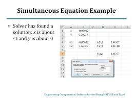 simultaneous equation example