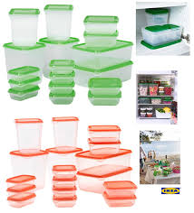 ikea pruta set 17 pcs high quality plastic transparent food