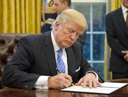 president in oval office. contemporary oval us president donald trump signs an executive order in the oval office of  white house in
