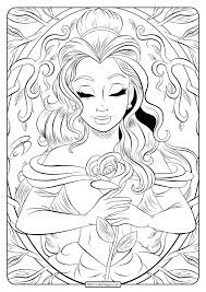 Get your free printable beauty and the beast coloring sheets and choose from thousands more coloring pages on allkidsnetwork.com! Printable Beauty And The Beast Belle Coloring Page