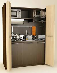 Mini kitchen with folding doors