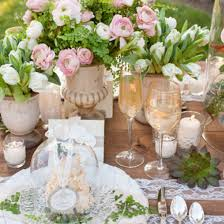 Vintage-style Centerpieces for a Baby Shower Tea Party