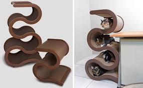 cool cat tree furniture. Um, Coolest Cat Tree Ever. Curvynest Modern Cool Furniture R